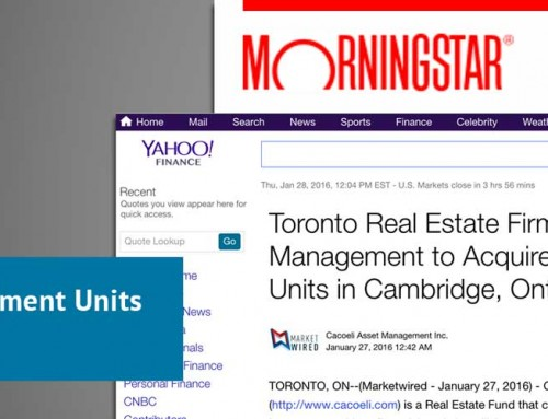 Toronto Real Estate Firm Cacoeli Asset Management to Acquire 65 Apartment Units in Cambridge, Ontario