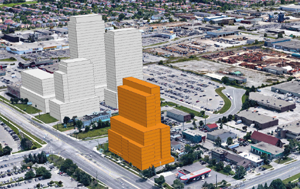 the Steeles Toronto building one of the assets under management by the Cacoeli real estate investing company